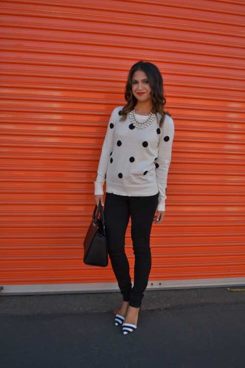 polka dot kinda day + michael kors selma satchel