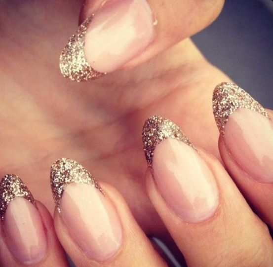 glitter french manicure for nye